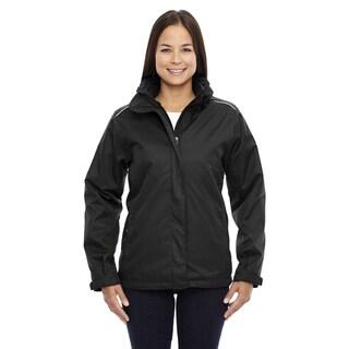 Region Women's 703 Black Polyester Three-in-one Jacket With Fleece Liner