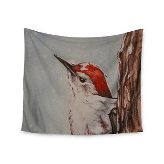 """Kess InHouse Brittany Guarino """"Downy Woodpecker"""" Wall Tapestry 51"""" x 60"""""""