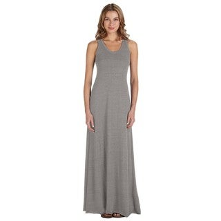 Women's Eco Grey Racer-back Maxi Dress