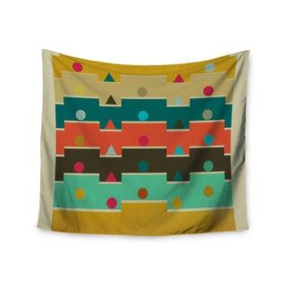 "Kess InHouse Bri Buckley ""Modern Graphics"" Multicolor Geometry Wall Tapestry 51'' x 60''"