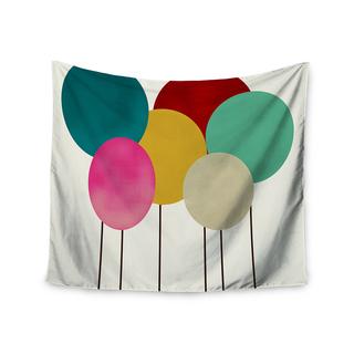 "Kess InHouse Bri Buckley ""Celebration"" Rainbow Circles Wall Tapestry 51'' x 60''"