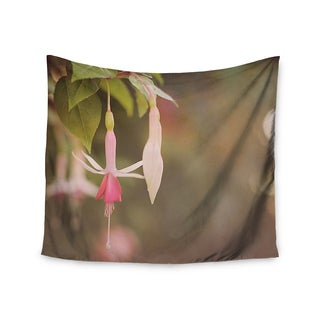 "Kess InHouse Angie Turner ""Fuchsia"" Pink Flower Wall Tapestry 51'' x 60''"