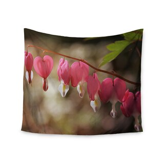 "Kess InHouse Angie Turner ""Bleeding Hearts"" Pink Flower Wall Tapestry 51'' x 60''"