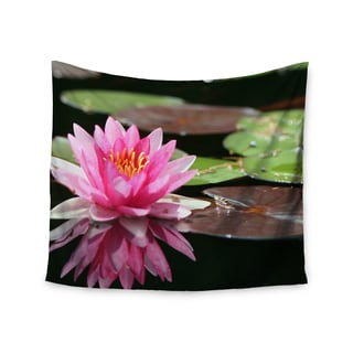 "Kess InHouse Angie Turner ""Water Lily"" Green Pink Wall Tapestry 51'' x 60''"