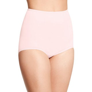 Bali Women's Skimp Skamp Blushing Pink Nylon/Spandex/Cotton Brief Panty