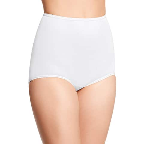 Bali Women's Skimp Skamp White Nylon, Spandex and Cotton Brief Panty