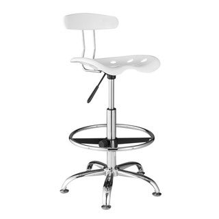 OneSpace Adjustable Drafting Stool with Tractor Seat