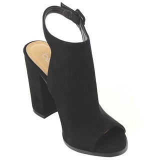 Betani Women's Black Faux Suede Ankle Booties