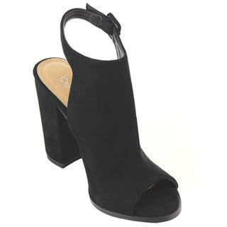 Betani Women's Black Faux Suede Ankle Booties|https://ak1.ostkcdn.com/images/products/12142887/P18998355.jpg?impolicy=medium