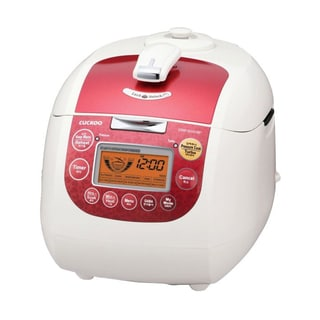 Cuckoo CRP-G1015F 10-Cup Electric Pressure Rice Cooker (Red) - (Refurbished)
