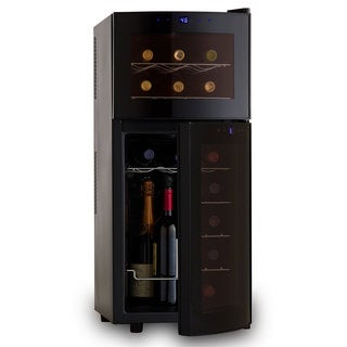 Wine Enthusiast Silent Dual Zone 21-bottle Curved-door Wine Refrigerator