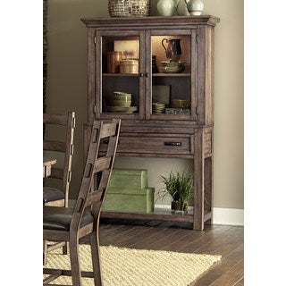 Progressive Boulder Creek Distressed Pecan Wood Hutch/Buffet Set