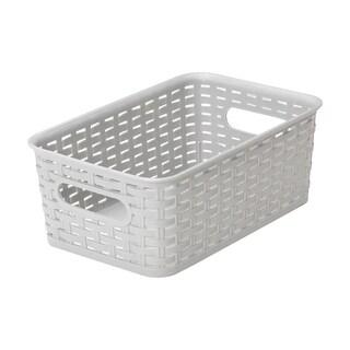 YBM Home ba413 Plastic Rattan Storage Box Basket Organizer
