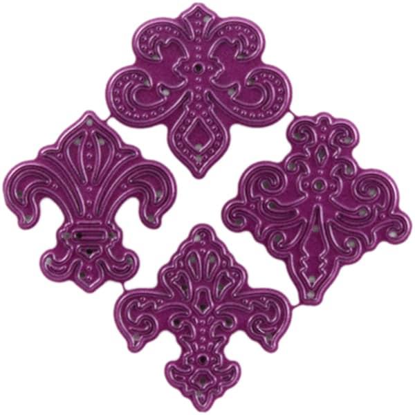 Cheery Lynn Designs Fleur De Lis Accent