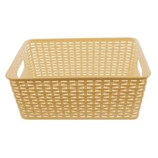 YBM Home Brown Plastic, Rattan Storage Box Basket Organizer