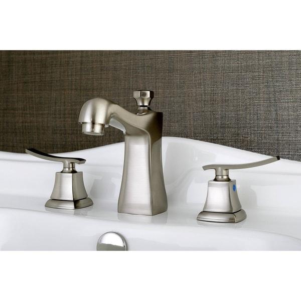 Shop Double Handle Satin Nickel Widespread Bathroom Faucet Free Shipping Today