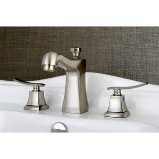 Double Handle Satin Nickel Widespread Bathroom Faucet