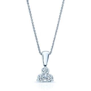 14k White Gold 3/4ct TDW Diamond Flower Pendant (H-I, VS1-VS2)