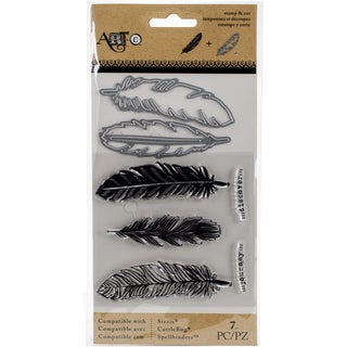 Momenta Stamp & Die Set Large Feathers
