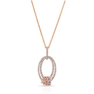 14k Rose Gold 1/2ct TDW Pave Diamond Knot Pendant (H-I, SI1-SI2)
