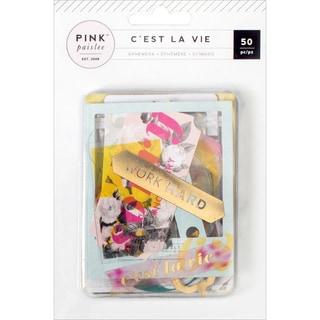 C'est La Vie Ephemera Die-Cuts 50/Pkg Cardstock & Acetate W/Gold Foil