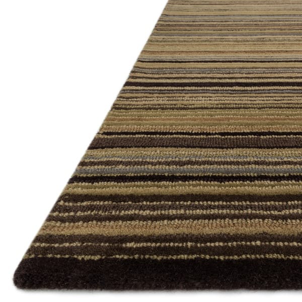Multi Striped Wool Rug