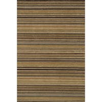 Hand-hooked Barrow Sage/ Multi Striped Wool Rug (7'6 x 9'6)