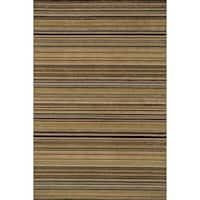 "Hand-hooked Barrow Sage/ Multi Striped Wool Rug (3'6 x 5'6) - 3'6"" x 5'6"""