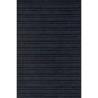 "Hand-hooked Barrow Midnight Striped Wool Rug (7'6 x 9'6) - 7'6"" x 9'6"""