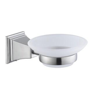 Pegasus Exhibit Wall-Mounted Soap Dish in Brushed Nickel