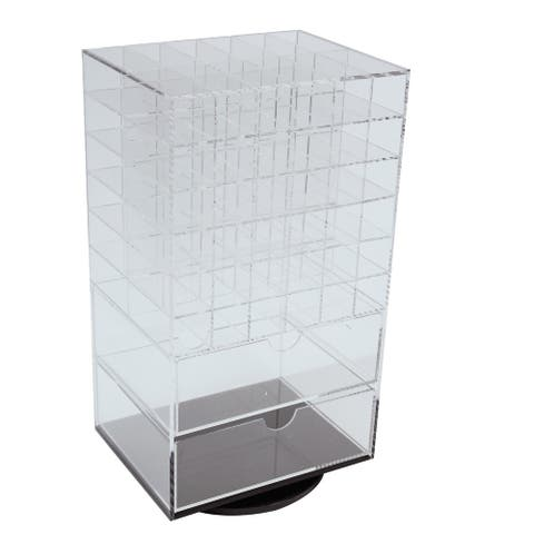 Acrylic Rotating Makeup Organizer Tower