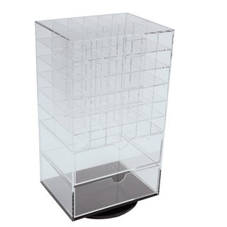 Ikee Design Acrylic Rotating Makeup Organizer Tower