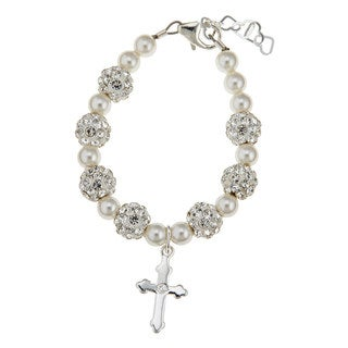 Luxury Swarovski Christening Cross Baby Bracelet