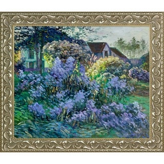 Emile Claus 'The Asters, 1906' Hand Painted Framed Canvas Art