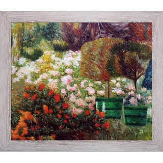 Emile Claus 'A Corner of My Garden, 1901' Hand Painted Framed Canvas Art
