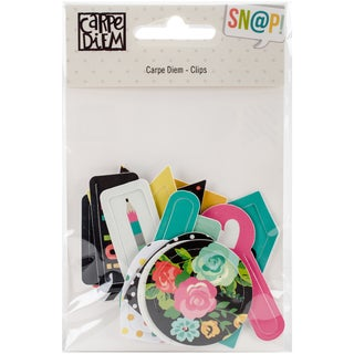Carpe Diem Decorative Shaped Plastic Clips 16/Pkg