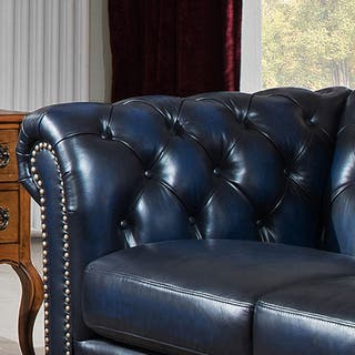 Pleasant Shop Nebraska Genuine Hand Rubbed Blue Leather Chesterfield Machost Co Dining Chair Design Ideas Machostcouk