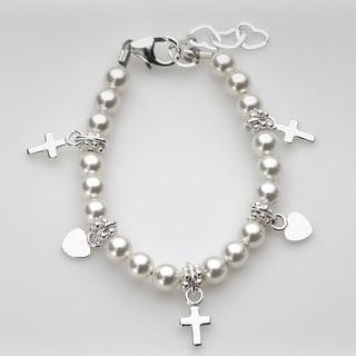 White Goddaughter Baby Bracelet