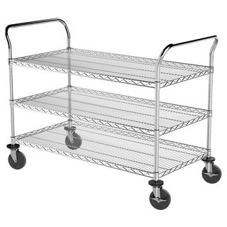 Wire Cart With Three Shelves