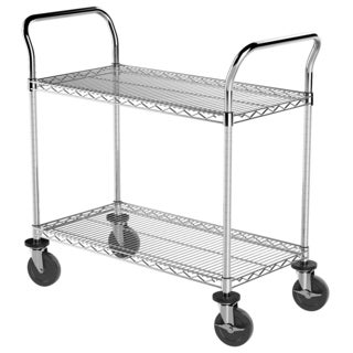 Akro-Mils Plastic/Steel 18-inch x 36-inch 2-shelf Wire Cart