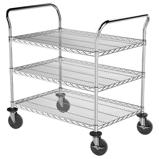 Akro-Mils Plastic/Steel 24-inch x 36-inch 3-shelf Wire Cart