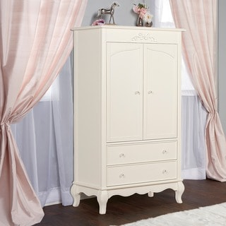 Evolur Aurora Ivory Lace Armoire