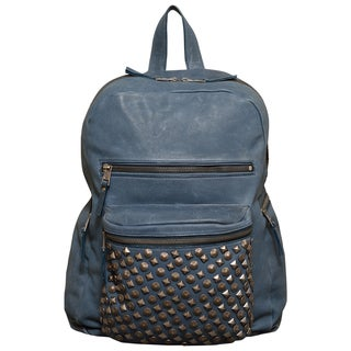 Ash Domino Studded Washed Leather Backpack