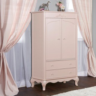 Evolur Aurora Pink Wood Armoire