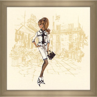 Robert Best 'White Suit Barbie' Framed Fashion Wall Decor