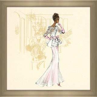 Robert Best 'White and Pink gown Barbie' Framed Fashion Wall Decor