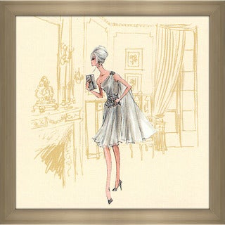 Robert Best 'Silver Dress Barbie' Framed Fashion Wall Decor