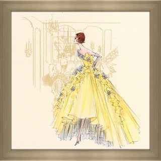 Robert Best 'Yellow Gown Barbie' Framed Fashion Wall Decor