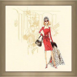 Robert Best 'Red Dress Barbie' Framed Fashion Wall Decor