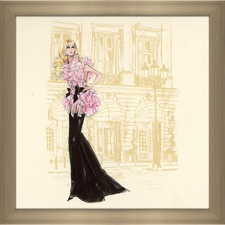 Robert Best 'Pink and Black Gown Barbie' Framed Fashion Wall Decor